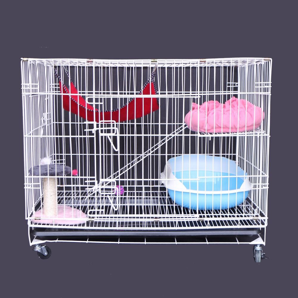 Wire mesh folding pet cage wholesale supply pink dog crate or cat