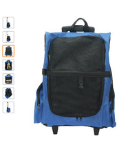 600D oxford blue trolley pet bag carrier backpack