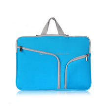 Customized Neoprene Travel Carrying Hidden Handle Storage Laptop Charging Pouch Case Bag For Ultrabook Computer Notebook