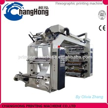 Double winder 6 Colour Flexographic Printing Machine print on plastic film