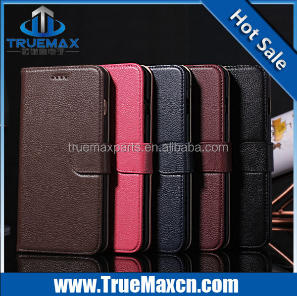 Brand new for iPhone 6 lichee wallet case, for iPhone 6 case with stand