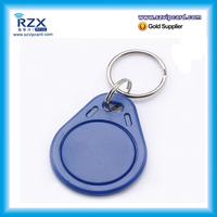 Customized Waterproof ABS RFID MIFARE Classic 1K S50 hotel key fob/tag/keychain