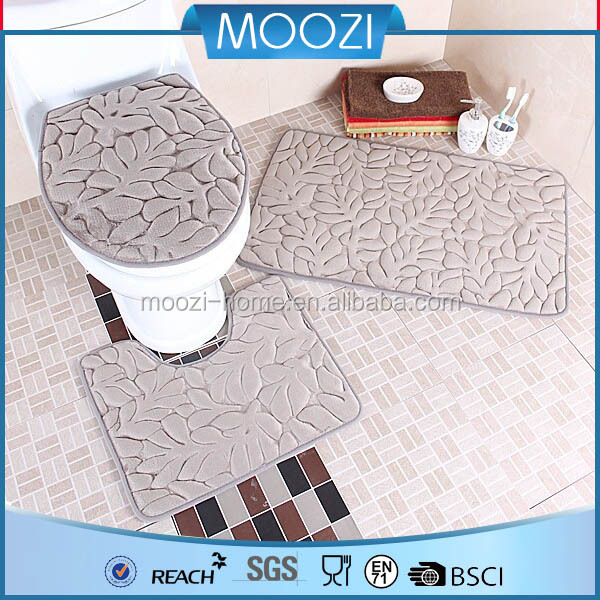 China manufacturer of Carpet,Good quality toilet carpet,pvc backing memory foam bath mat