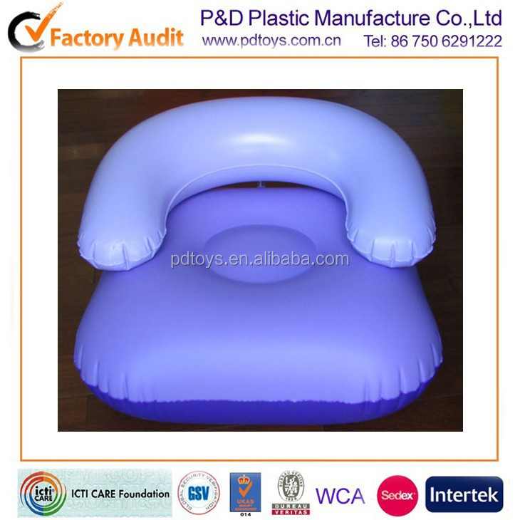 ASTM PVC air inflatable chester sofa