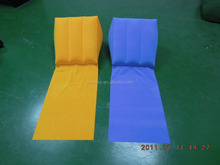 pvc flocking inflatable wedge back support pillows