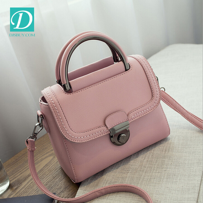 2016 newest fashion elegant office lady bags retro lock shoulder bag pu leather handbags