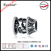European Style Hot Sale Sliver Big Hole Beads for Women or Men Charms Jewelry