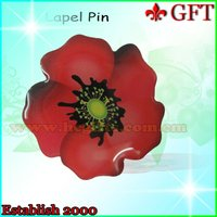 Cheapest!!!Beactiful Flower Metal Badge/Button Badge GFT-L243