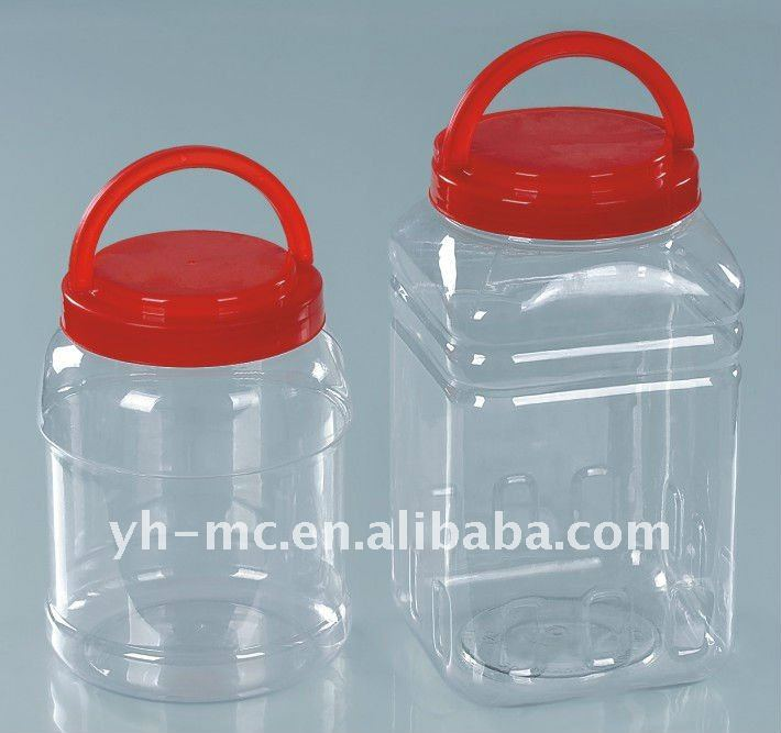 empty plastic large Storage food bottles for different volume