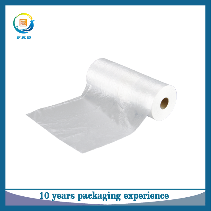 Eco-friendly HDPE clear plastic bags on roll supermarket perforated bags for vegetables