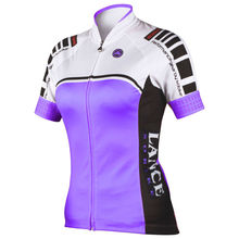 purple white black breathable plus size anti UV quick dry lady short sleeve summer bike apparel factory