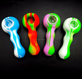 Colorful Silicone smoking pipes for outdoor smoking