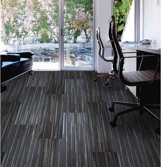 LV10 100% Solution Dyed Nylon 50x50cm Floor Carpet Tile for Library