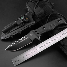 D2 stainless steel tactical knife multifunction survival hunting knife with outdoor survival folding pocket knife