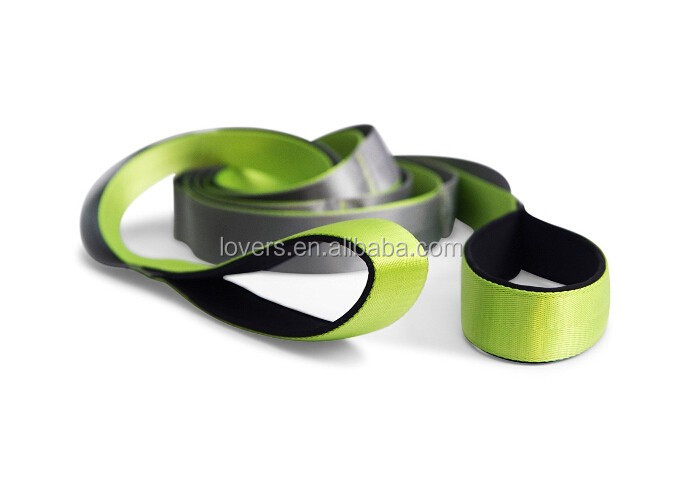 Custom Nylon Non-Elastic Yoga Stretching Strap with 12 Flexible Loops