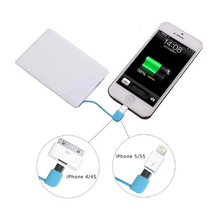 Ultra thin Pocket/credit card power bank for Mobile phone
