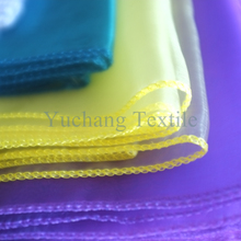 Bright yellow woven fabric organza sash for decoration