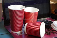 Cheap Price Disposable Insulated Ripple Hot Coffee Paper Cup with Lids
