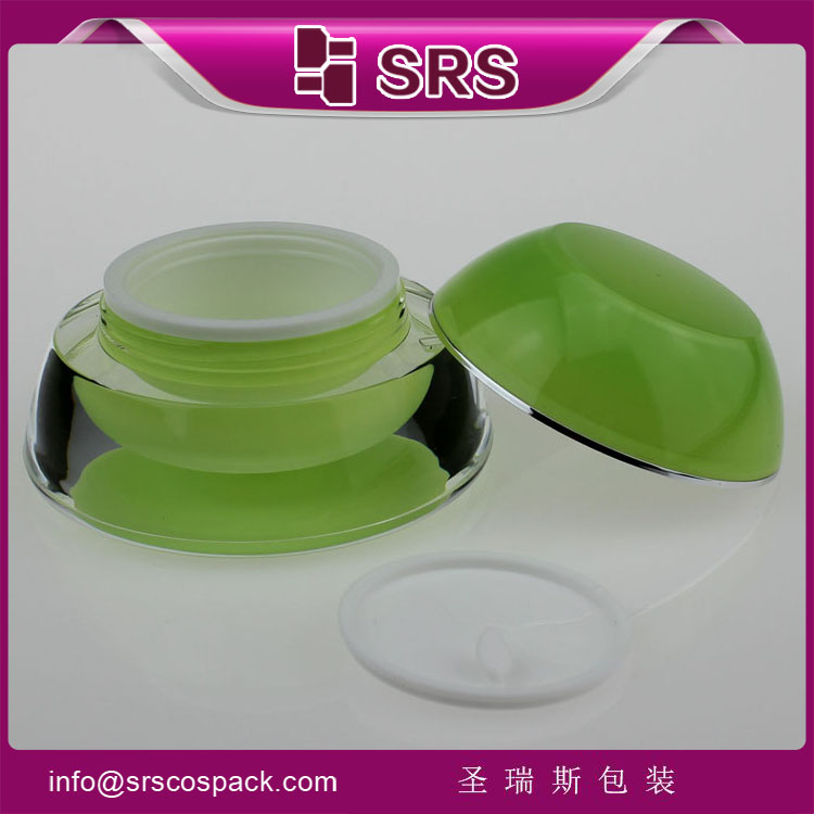 SRS Alibaba China Elegant Pagoda Skincare Jar for skin care, empty white plastic container