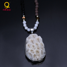 Wholesale natural stone jewelry fashion pendant necklace chian design necklace jewelry