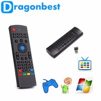 2.4G bluetooth air mouse Fly Mouse+Keyboard+Remote Controller For Mini PC MX3 Remote Control Fly Air Mouse for Android Tv Box