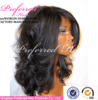 Hot selling 100% human hair african american wigs natural