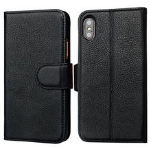 Mobile phone case packaging genuine leather phone case for iPhone X