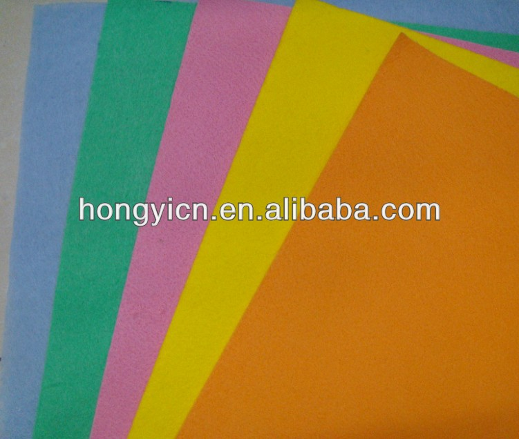 best quality assorted colors needlpunched nonwovens cloth for family use