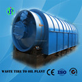 Completely continuous waste tyre pyrolysis plant in low risk