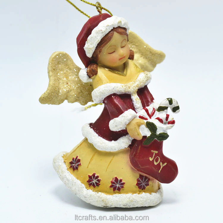custom polyresin small angel figurine design handmade christmas crafts