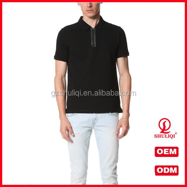 2016 Lastest designs black polo shirt fation organic cotton t shirt cheap plain men's polo t shirts