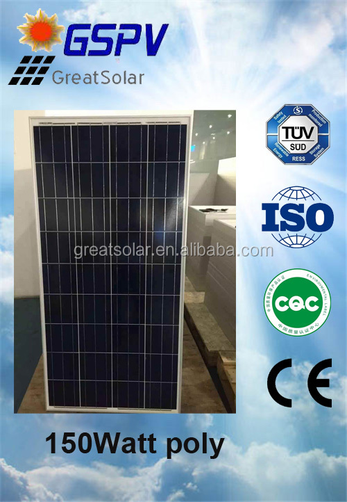 OEM 130W 140W 150w Poly Solar Panel by 10 years professional manufacturer