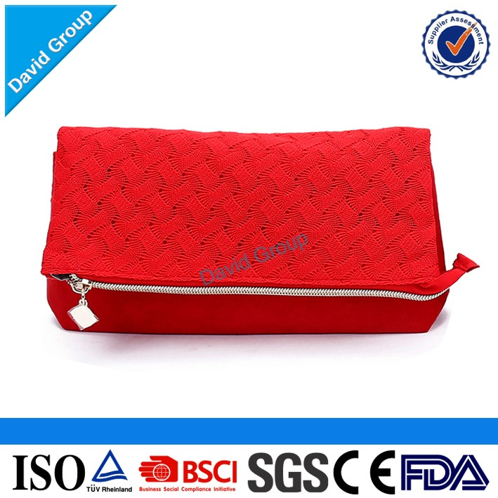 2017 TOP Seller! Promotional Customzied Logo Printed Easy Cleaning Waffle Weave Custom Fabric Makeup Bag