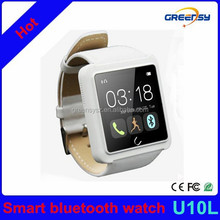 GR-U10L 2015 New smart bluetooth wrist watch with LED display / Dial / SMS Reminding / Music Player / Pedometer for IOS Android