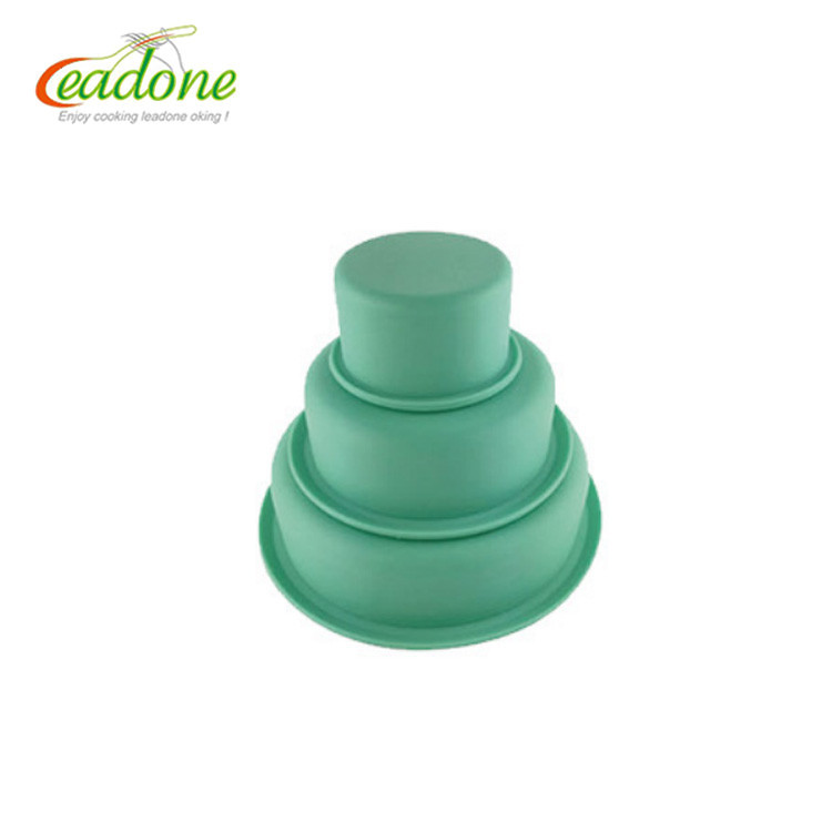 LD-B0110 Creative DIY Silicon Cake Mold, FDA Cake Pop three level Silicone Mold