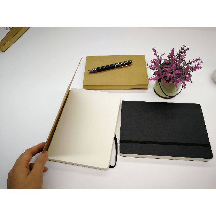 Best Seller Thick A5 Blank Kraft Paper Hardcover Sketch Book With Elastic Band