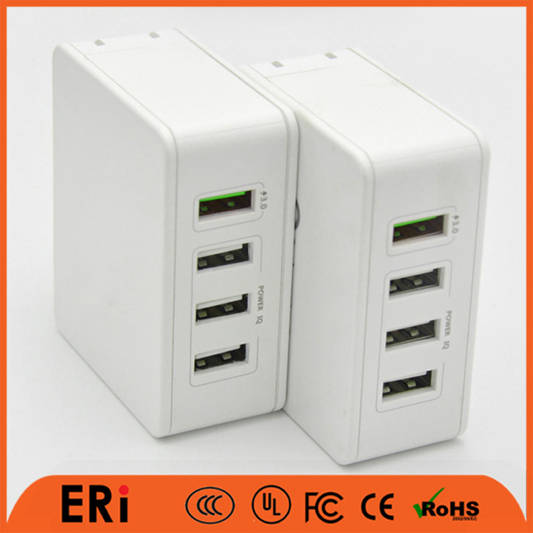 EU prong charger dock multi usb ports travel charger US pin 110v wallmount charging station 6.2a dock charger