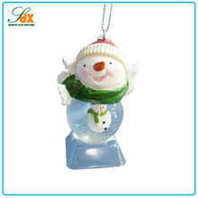 Fashionable China Factory Price Snowman Glass Hanging Ball