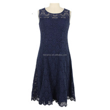 Crochet Lace Formal Dress For Middle Age Women Evening Dress