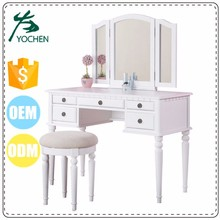 Wholesale luxury furniture white lacquer bedroom dresser