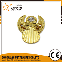 custom metal pilot wings pin badge, blank gold lapel pins