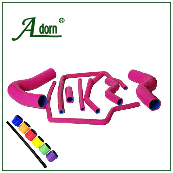hot pink silicone radiator hose kits