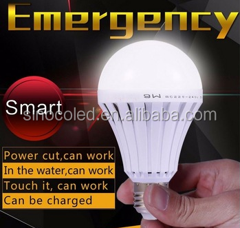 Rechargeable Plastic Led Bulb 12w A95 Led Bulb B22 Led Emergency Light Bulb