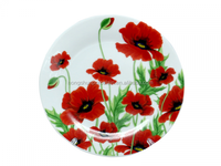 luxury promotion high quality ceramic decorate dinner plate with custom design