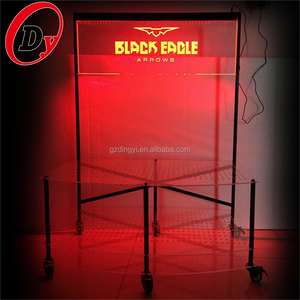 new style outdoor illuminated RGB color acrylic 3D LED display sign with base