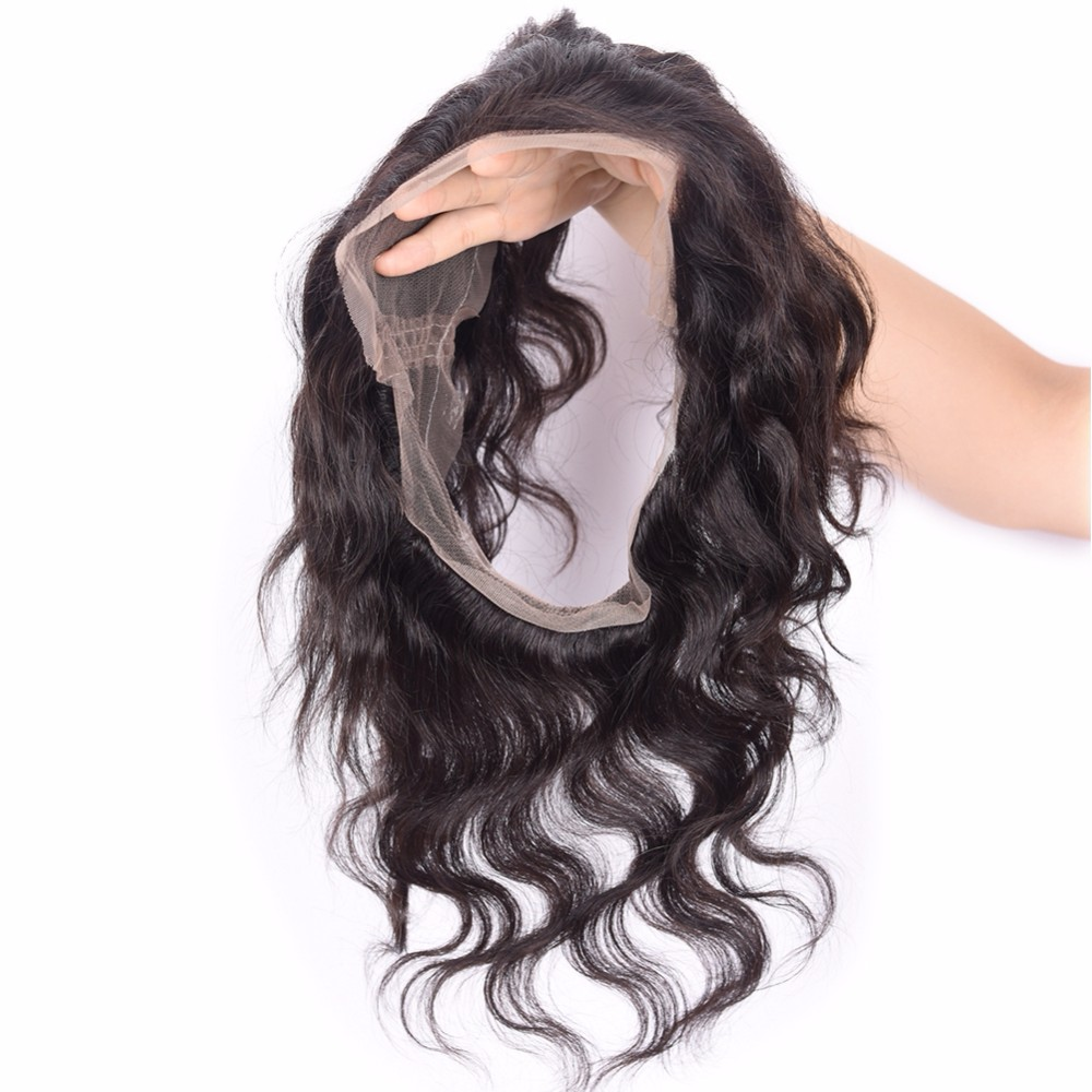14 inch high demand products in market 100% human hair 360 lace frontal closure