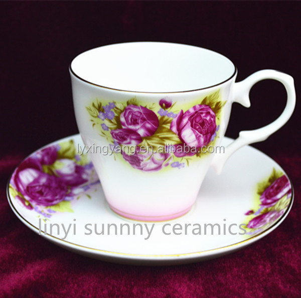 high quality and Factory direct custom coffee cup and saucer, ceramic cup saucer
