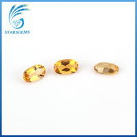 China high quality oval cut yellow citrine gemstone