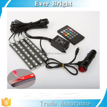 Remote/Music/Voice Control Car RGB LED Kit Interior Atmosphere Neon Lights Strip for Car underdash lighting