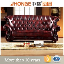 vantage furniture european royal style carved leather sectional set classical sofa